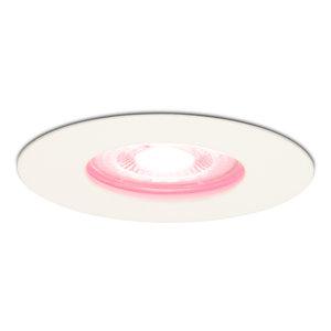 Homeylux Smart WiFi Dimmbare RGBWW LED Einbaustrahler Bari Weiß GU10 5 Watt IP65 spritzwassergeschützt