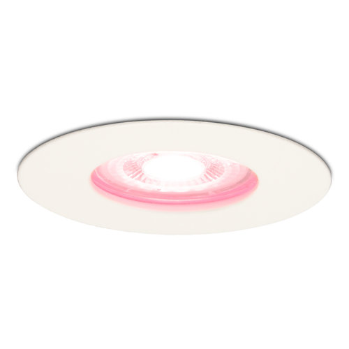 Homeylux Smart WiFi Dimmable RGBWW LED Recessed spot Bari white GU10 5 Watt IP65 splashproof