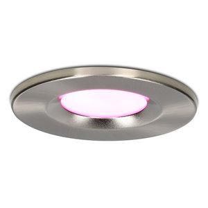Homeylux Smart WiFi Dimmable RGBWW LED recessed spot stainless steel Venezia 6 Watt IP65