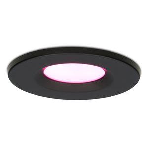 Homeylux Smart WiFi Dimmbare RGBWW LED Einbaustrahler Schwarz Venezia 6 Watt IP65