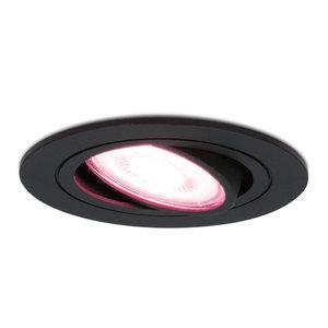 Homeylux Intelligenter WiFi LED-Einbaustrahler Schwarz Miro RGBWW Schwenkbar IP20