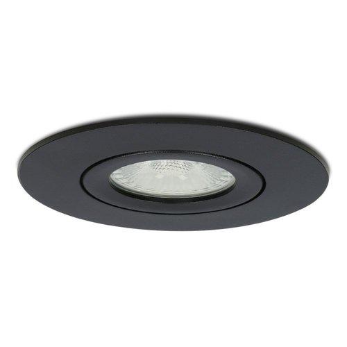 Homeylux 3x Smart LED Einbaustrahler Napels Schwarz 8 Watt RGBWW IP65 Schwenkbar