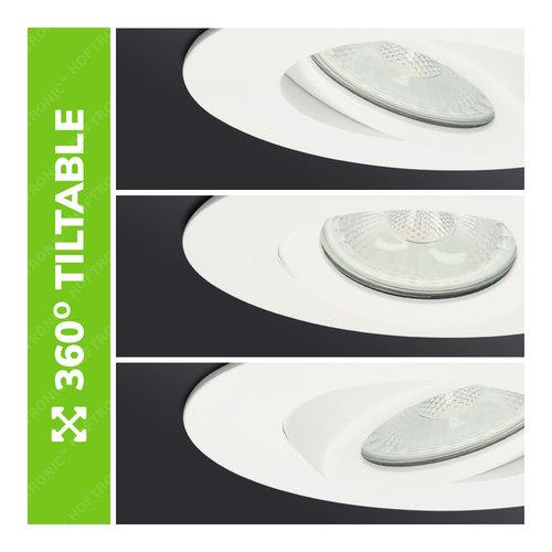Homeylux 6x Smart LED inbouwspots Napels wit 8 Watt RGBWW IP65 kantelbaar