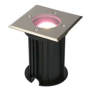 Homeylux WiFi LED ground light square Ramsay RVS RGBWW IP67