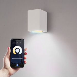 Homeylux Smart WiFi LED wall light Marion white WW-CW GU10 IP44