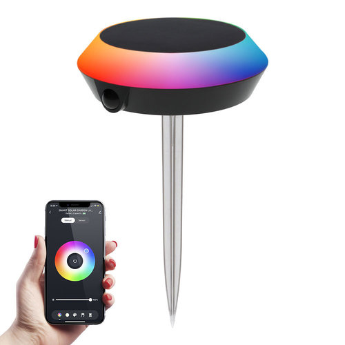 Homeylux LED Smart Solarlight 1.5 Watt RGBWW Bluetooth IP65 - Google Home, Amazon Alexa & Siri