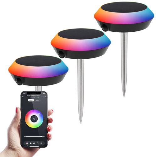 Homeylux 3x LED Smart Solarlight 1.5 Watt RGBWW BLE