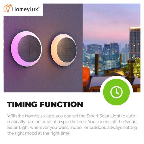 Homeylux 6x LED Smart Solarlight 1.5 Watt RGBWW - Gardenspike - Wall light - Pendant light - BLE