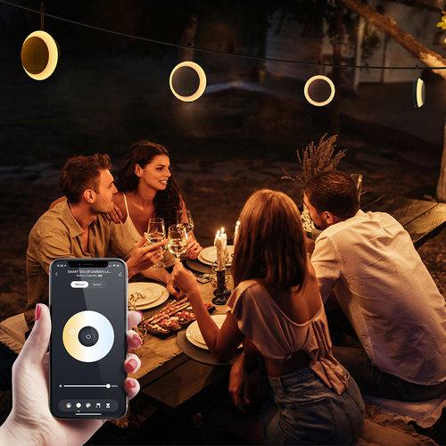 Homeylux 9x LED Smart Solarlight 1.5 Watt RGBWW - Gardenspike - Wall light - Pendant light - BLE