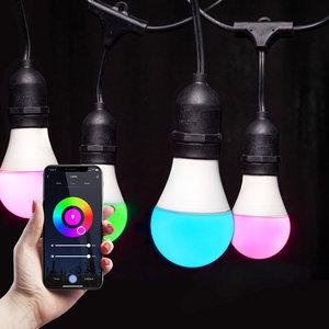 Homeylux Intelligente LED String Light - 15 E27 intelligente Glühbirnen - 15m - IP65 Für den Außenbereich geeignet