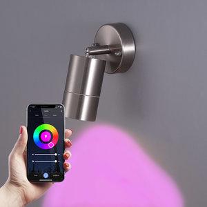Homeylux Smart WiFi+BLE LED Wall Light Lago stainless steel IP44