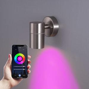 Homeylux Smart WiFi+BLE LED Wandlamp Mason RVS IP44