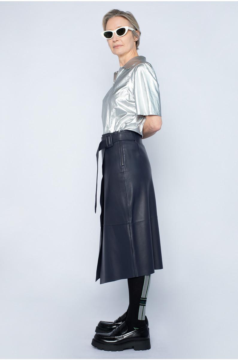 NORR Alba Leather Skirt