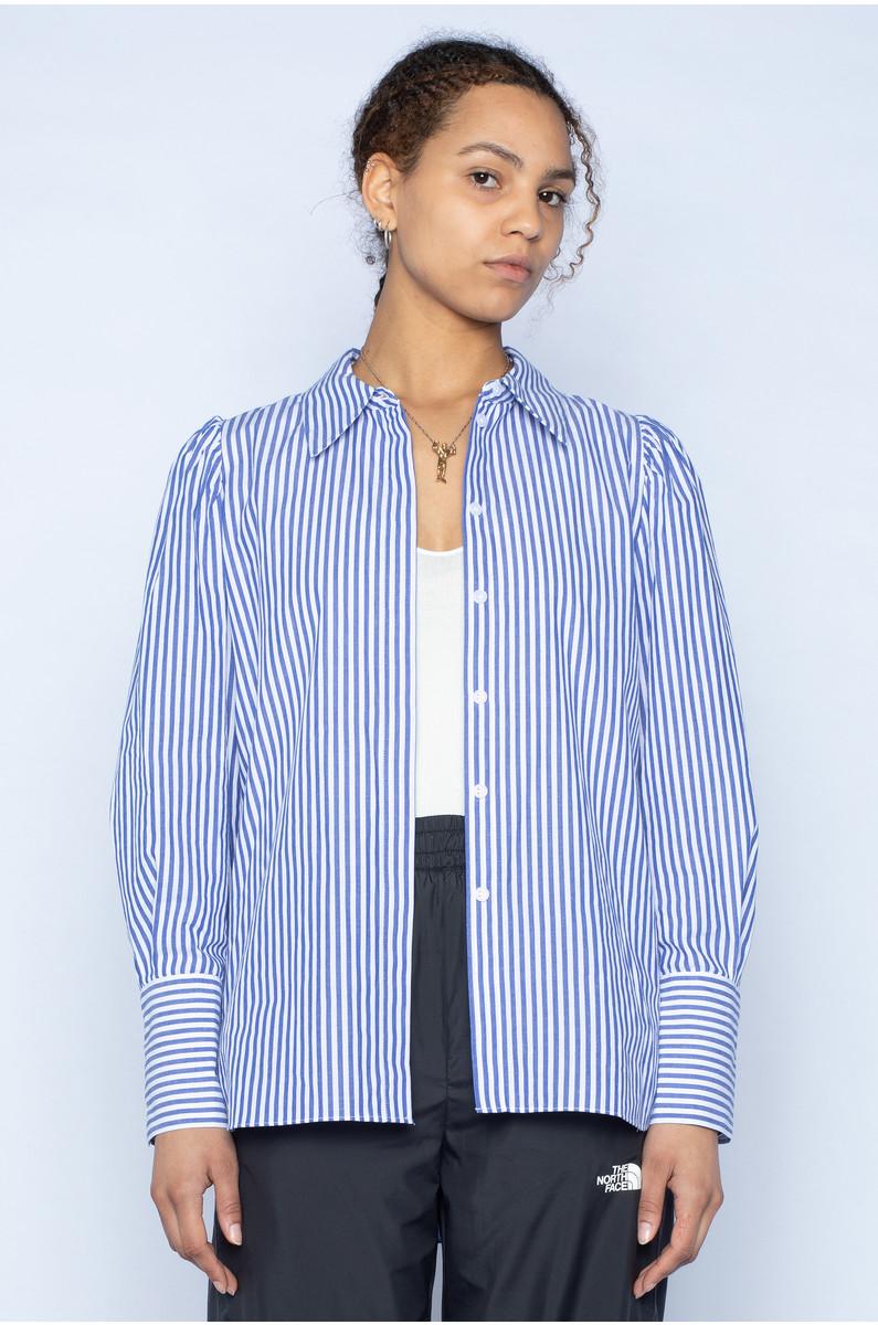 NORR Kirsten Stripe Shirt Blue