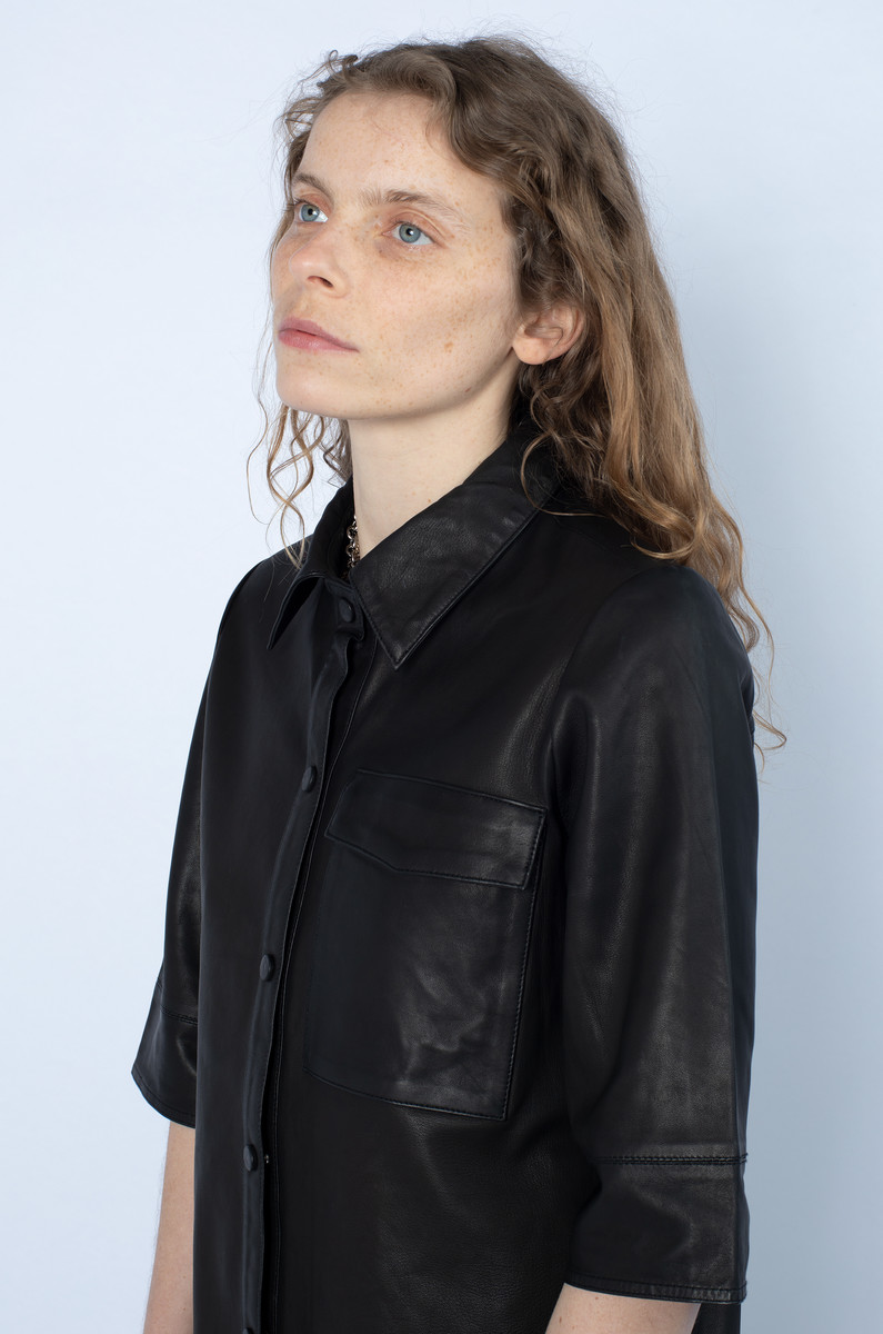 NORR NORR Niko Leather Shirt