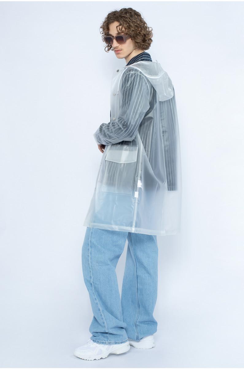 Transparent Hooded Coat