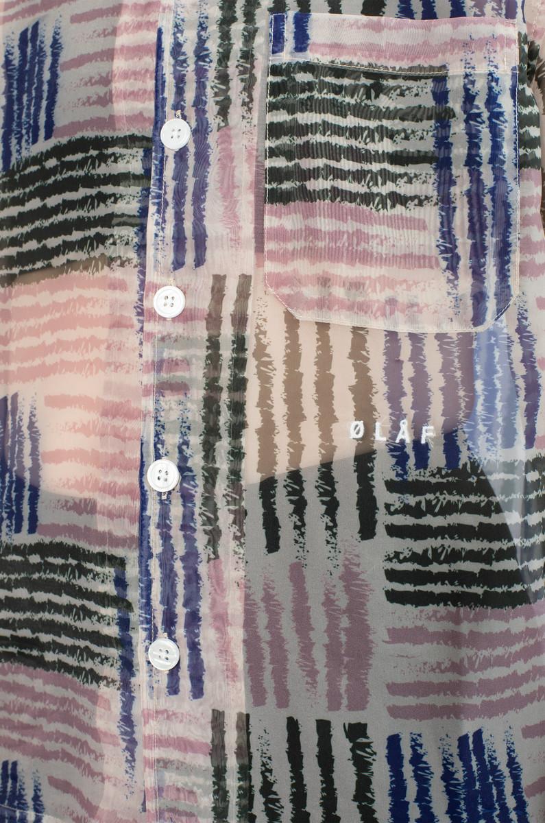 Olaf Hussein Olaf Hussein Sheer Stripe Shirt