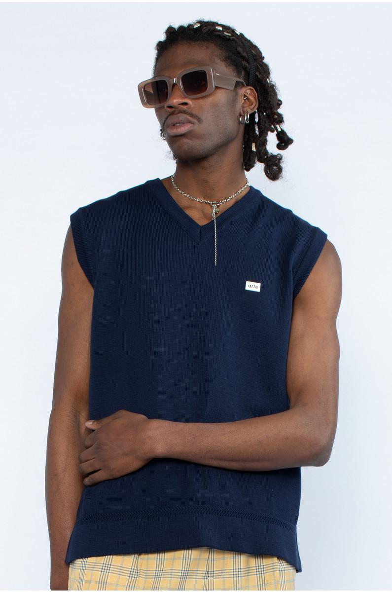 Arte Victor Label Sweater Vest