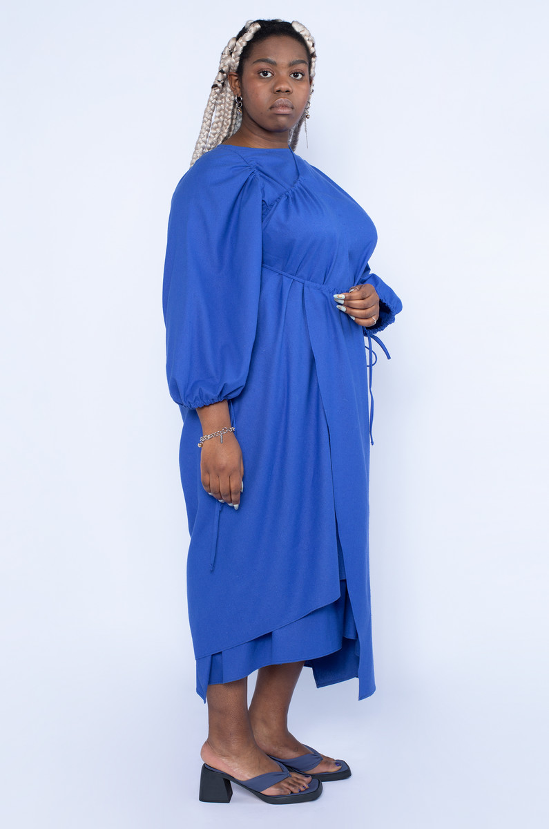 Baserange Baserange Honda Dress Raw Silk