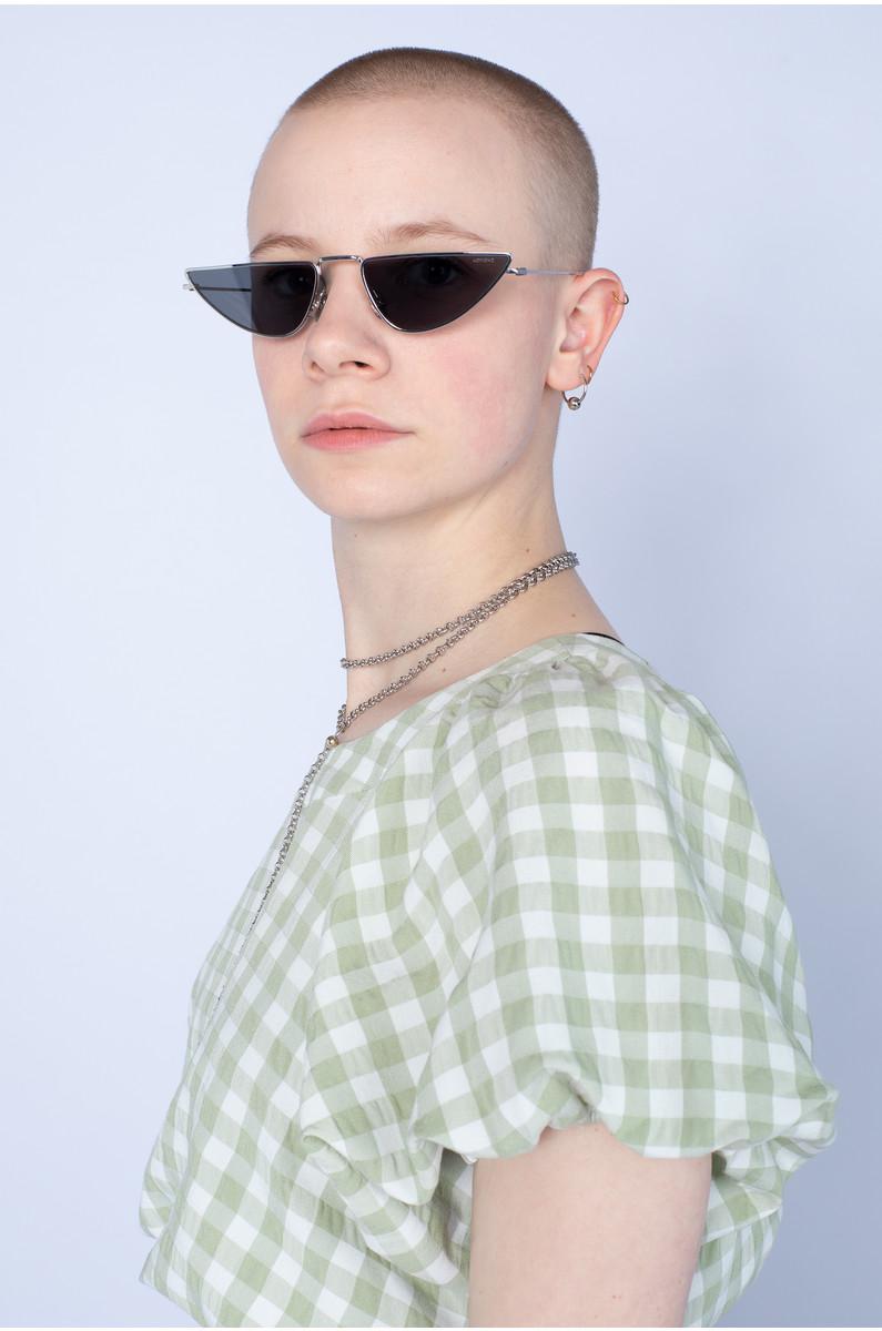Komono Ava Silver Smoke Sunglasses