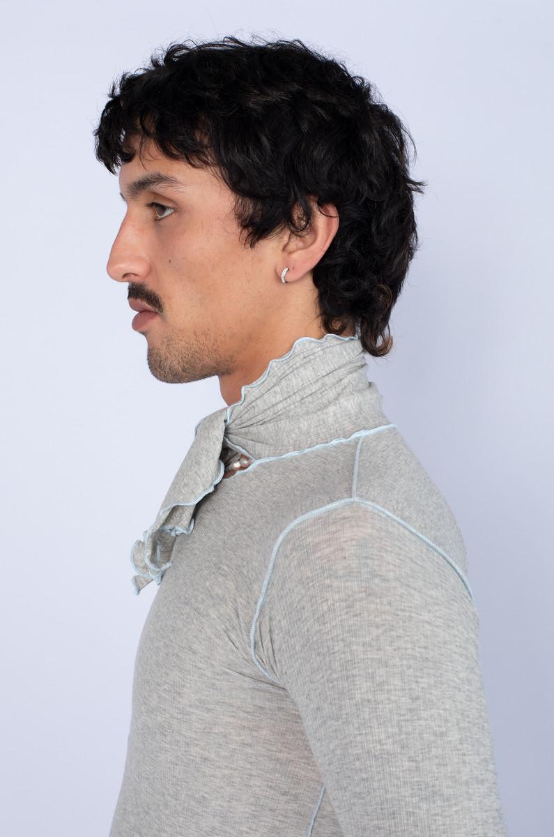 Baserange Baserange Pava Longsleeve Cotton Rib Grey