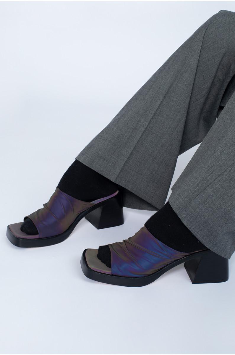 Miista Kristen Reflective Stretch Sandals