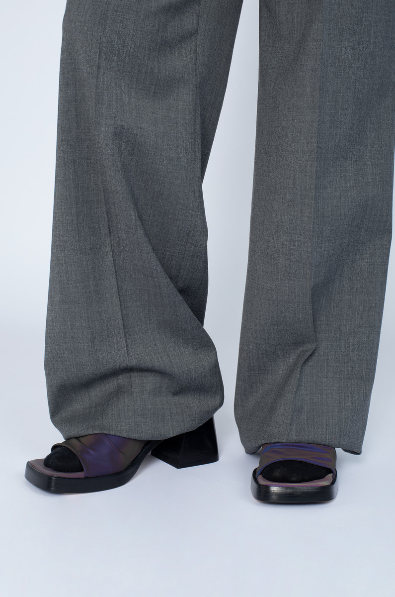 Miista Miista Kristen Reflective Stretch Sandals