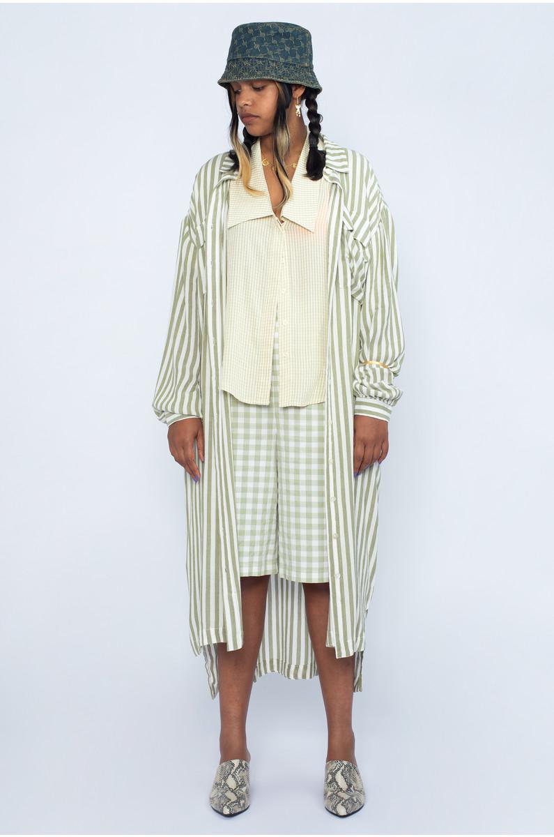 Native Youth Maxi Button Down Shirt Dress