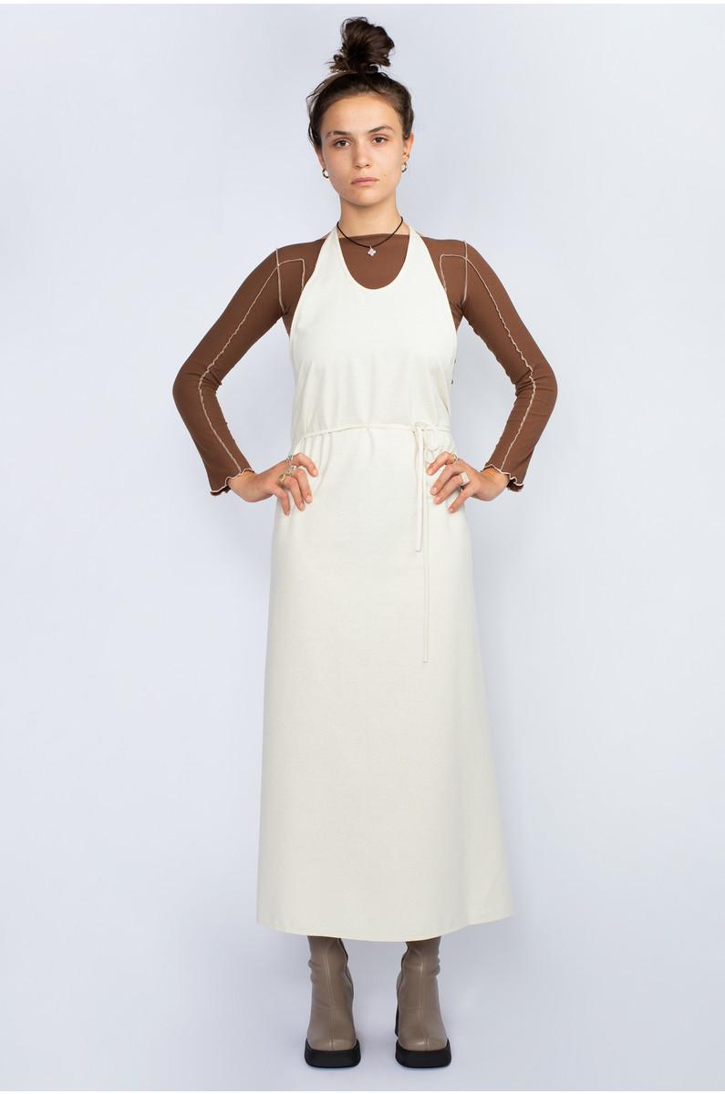Baserange Apron Dress Raw Silk
