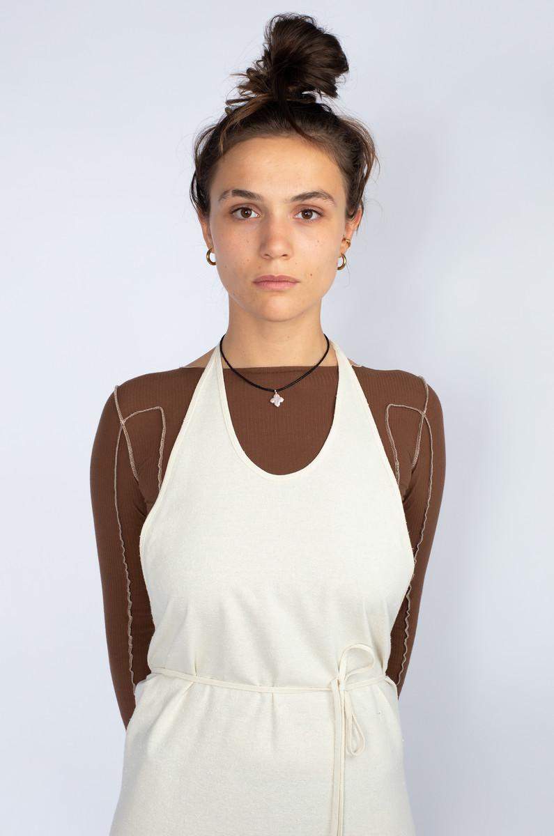 Baserange Baserange Apron Dress Raw Silk