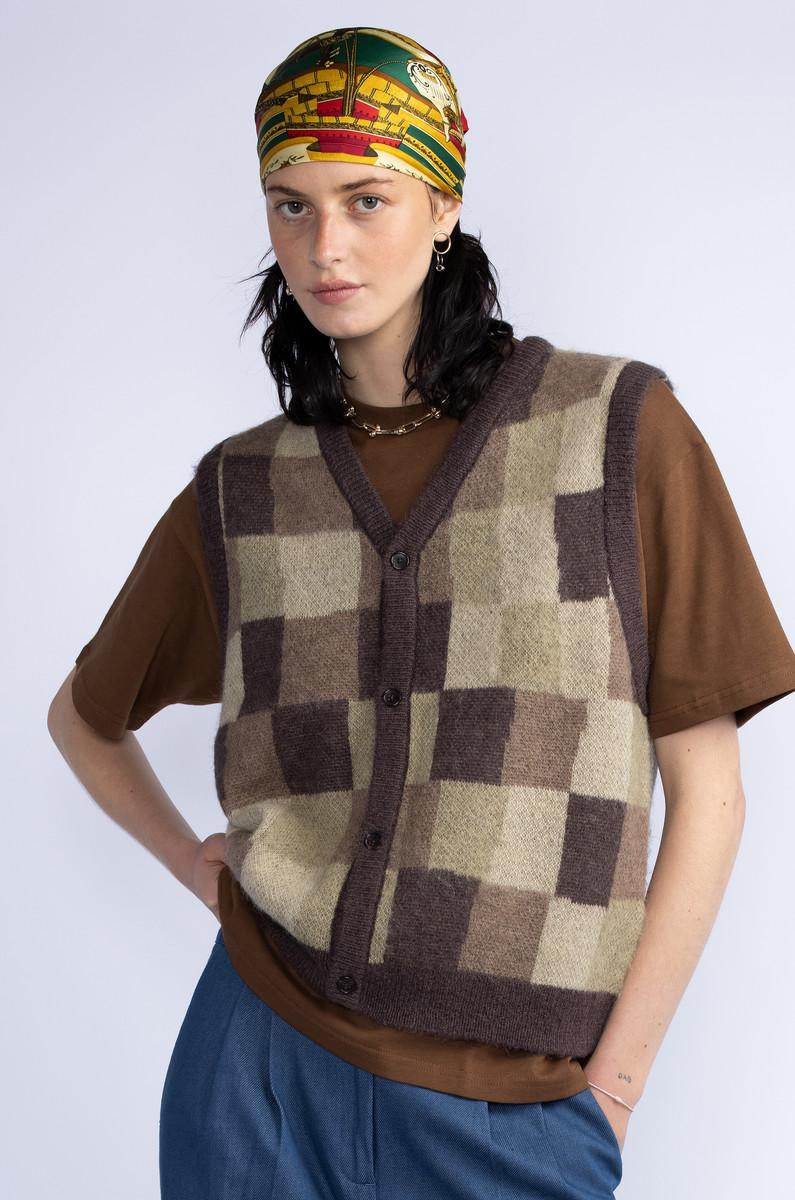 Stüssy Stüssy Wobbly Check Sweater Vest