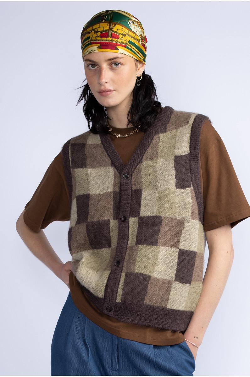 Stüssy Wobbly Check Sweater Vest