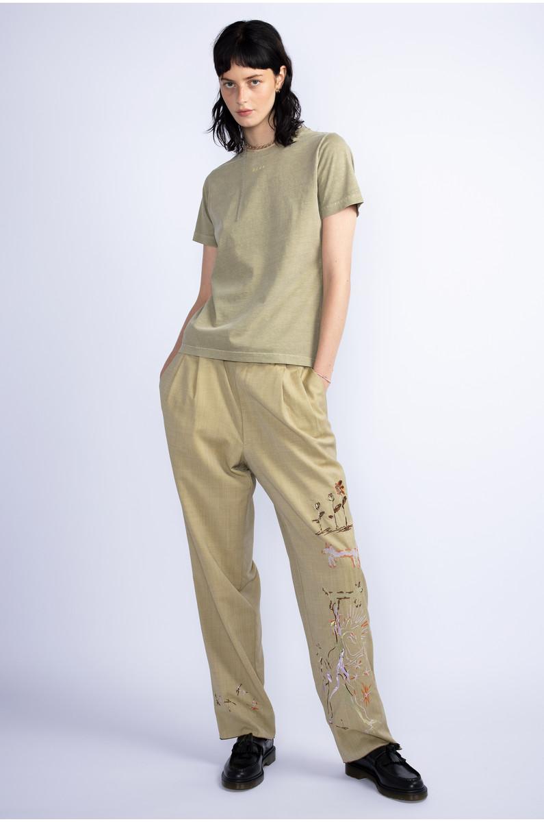 Paule Josephe trousers with mythical figures, stars
