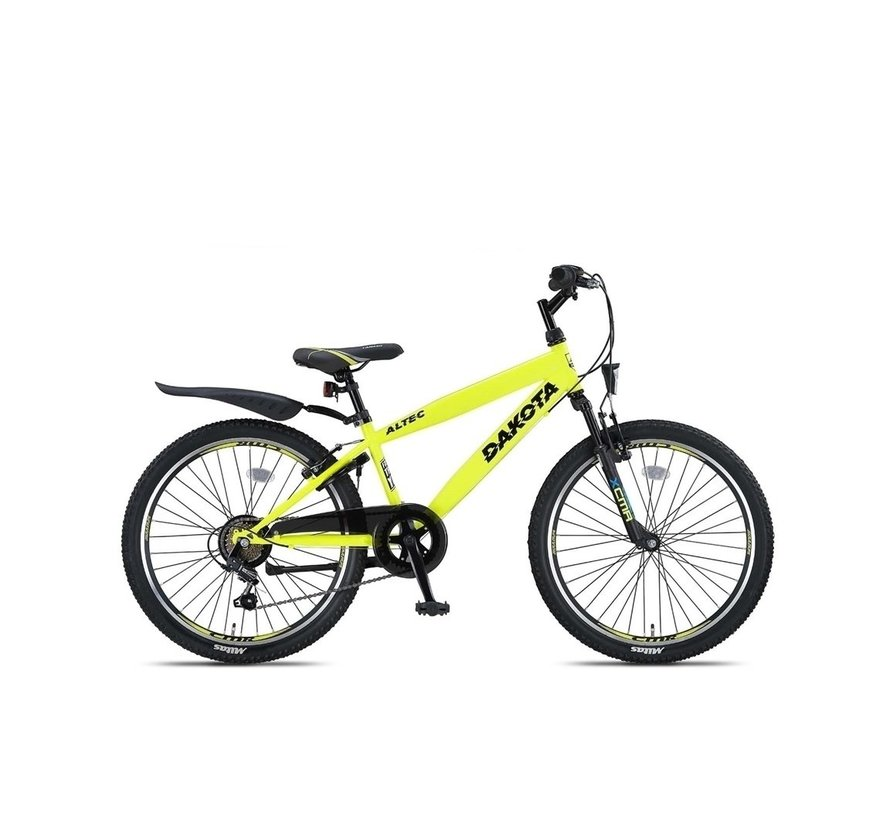 Altec Dakota 24inch Jongensfiets 7speed Neon Lime