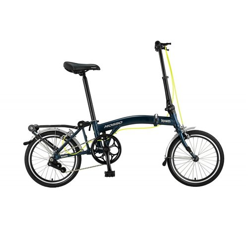 NIHIL Mosso Town 16 inch vouwfiets Mat Blauw