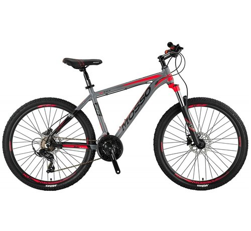 Mosso Wildfire 26 inch 20'' MTB LTD HYDR.Brakes Limited Edition Grey/Red