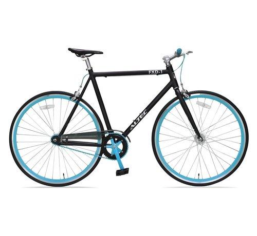 NIHIL Altec Fixed Gear 28 inch Zwart/Blauw 56cm