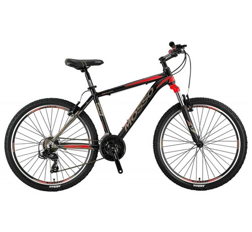 Mosso Wildfire 26 inch 18'' MTB V-Brakes Limited Edition Black/Red Nieuw