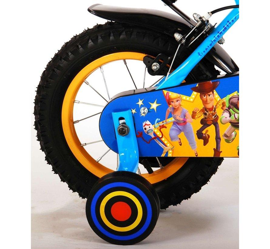 Disney Toy Story Kinderfiets - Jongens - 12 inch - Blauw/Geel - Twee handremmen