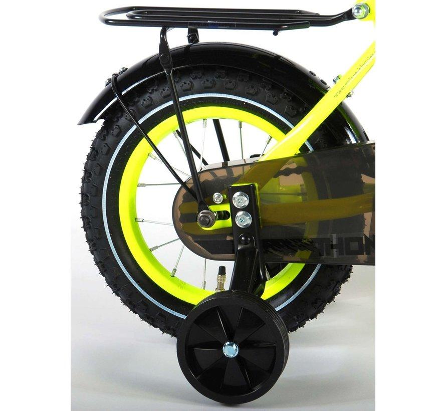 Volare Thombike Kinderfiets - Jongens - 12 inch - Neon Geel - 95% afgemonteerd