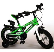 Kawasaki Kawasaki Kinderfiets - Jongens - 12 inch - Groen/Wit - 2 handremmen