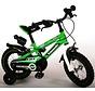 Kawasaki Kinderfiets - Jongens - 12 inch - Groen/Wit - 2 handremmen