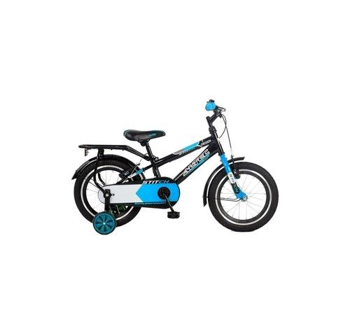 NIHIL Altec Stitch 16 inch jongensfiets Zwart/Blauw
