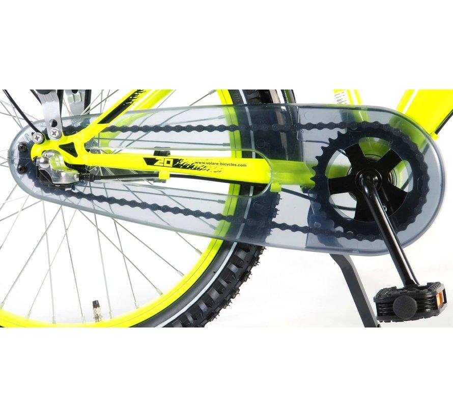 Volare Thombike City Kinderfiets - Jongens - 20 inch - Neon Geel - 95% afgemonteerd - Shimano Nexus 3 versnellingen