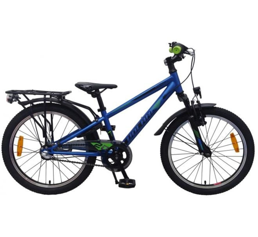 Volare Cross Kinderfiets - Jongens - 20 inch - Blauw Groen - Shimano Nexus 3 versnellingen - Prime Collection