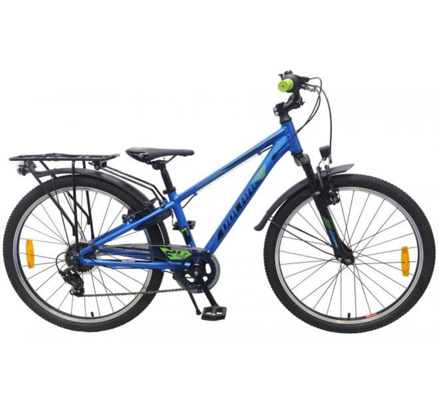 Volare Cross Kinderfiets - Jongens - 24 inch - Blauw - 6 versnellingen - Prime Collection