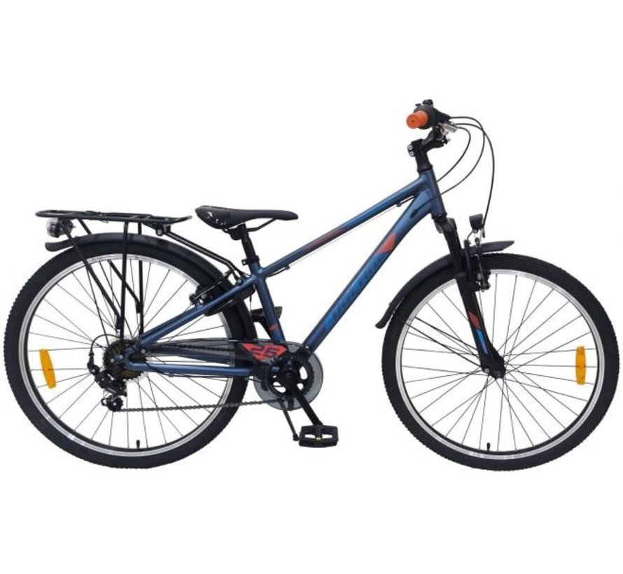 Volare Cross Kinderfiets - Jongens - 26 inch - Donker Blauw - 7 versnellingen - Prime Collection