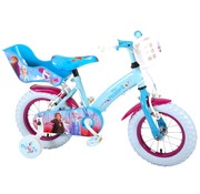 Disney Frozen 2 Disney Frozen 2 Kinderfiets - Meisjes - 12 inch - Blauw/Paars - 2 Handremmen