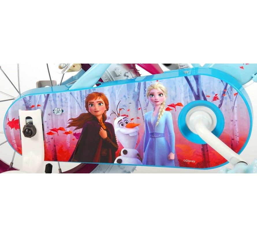 Disney Frozen 2 Kinderfiets - Meisjes - 12 inch - Blauw/Paars - 2 Handremmen