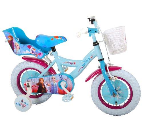 Disney Frozen 2 Disney Frozen 2 Kinderfiets - Meisjes - 12 inch - Blauw/Paars - 95% afgemonteerd